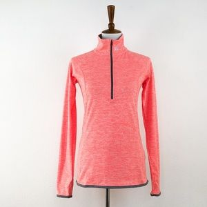Under Armour Pink White 1/2 Zipper Pullover